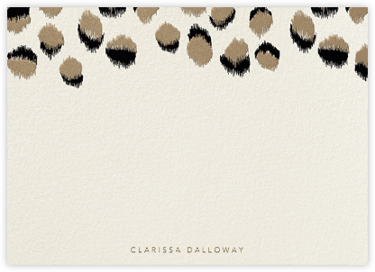 Feline - Horizontal - Kelly Wearstler - Personalized stationery