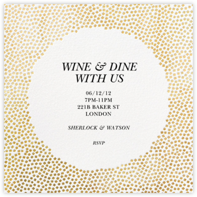 Konfetti - Gold - Kelly Wearstler - Dinner party invitations