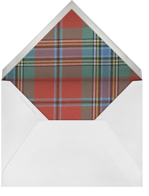 Tartan (Address) - Oscar de la Renta - Address collection cards - envelope back