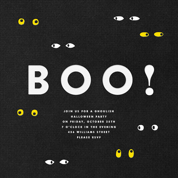 Spooky Eyes - The Indigo Bunting - Halloween invitations