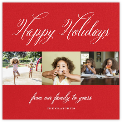 Holiday Triptych - Paperless Post - Holiday cards