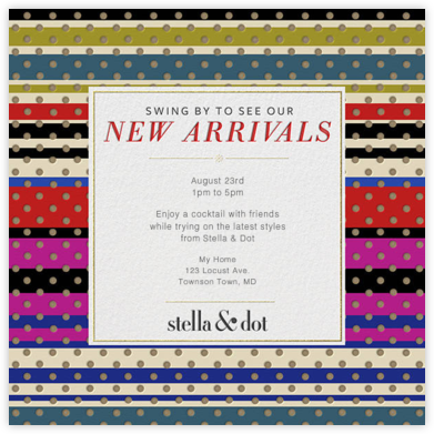 Stella and Dot-Stripes - Paperless Post -