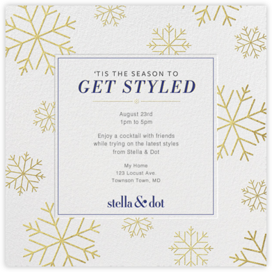 Stella and Dot - Snowflakes - Paperless Post