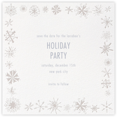 Freehand Snowflake - Paperless Post - Holiday Save the Dates