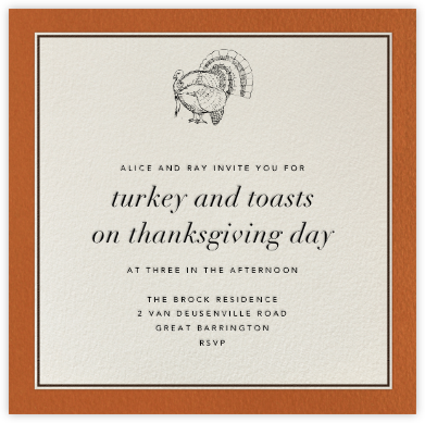 Seal Harbor (Orange) - Paperless Post - Thanksgiving invitations