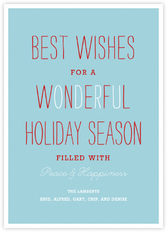Wonderful Holiday - Paperless Post - Holiday Cards