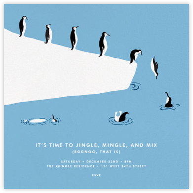 Polar Bird Club - Paperless Post - Holiday invitations