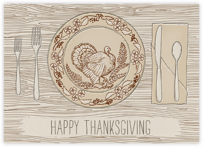 Thanksgiving Place Setting - Paperless Post - Thanksgiving Cards