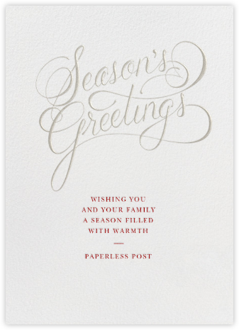 Season's Greetings Script - Paperless Post - Business holiday cards