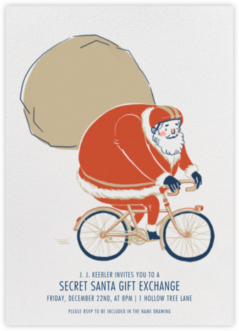 Santa's Bike Route - Paperless Post - Online Party Invitations