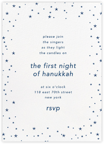 Andromeda - White - Paperless Post - Hanukkah Invitations