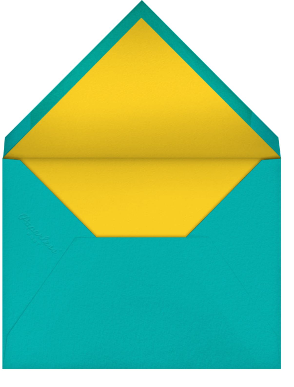 Bird Balloon - Yellow - Petit Collage - Birth - envelope back