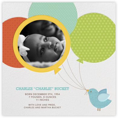 Bird Balloon - Yellow - Petit Collage