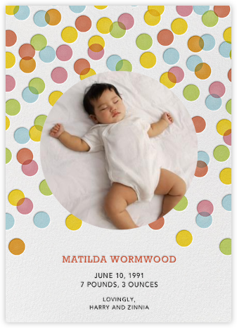 Rainbow Confetti - Petit Collage - Birth announcements