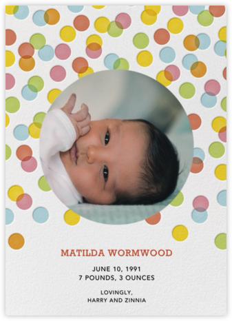 Rainbow Confetti - Petit Collage - Birth Announcements