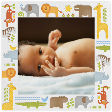 Safari Border - Petit Collage - Birth announcements