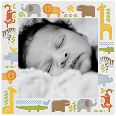 Safari Border - Petit Collage -