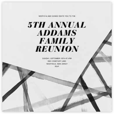Channels - Ivory/Black - Kelly Wearstler - Celebration invitations