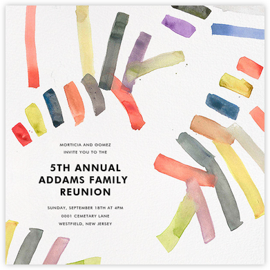 Sonnet - Multicolored - Kelly Wearstler - Celebration invitations