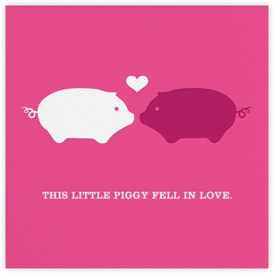 Piggy Love - Jonathan Adler - Holiday cards