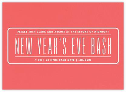 New Year's Eve Bash - Coral - Paperless Post - New Year's Eve Invitations