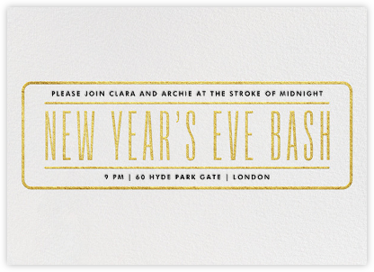 New Year's Eve Bash - Gold - Paperless Post - New Year's Eve Invitations