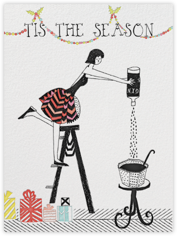 More Gin Please - Mr. Boddington's Studio - Christmas Cards