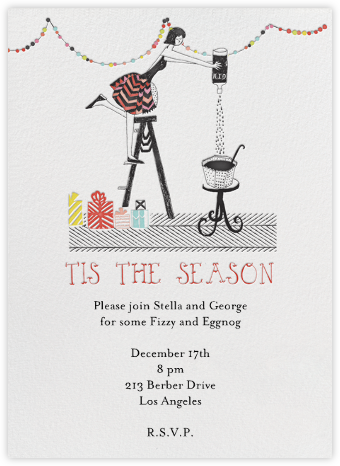 Sally and her Gin and Tonics - Mr. Boddington's Studio - Holiday invitations