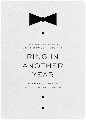 Black Tie Affair - Paperless Post - New Year's Eve Invitations