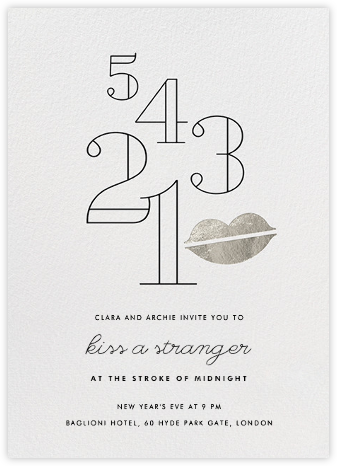 Countdown Kiss - Silver - Paperless Post -