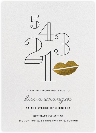Countdown Kiss - Gold - Paperless Post -