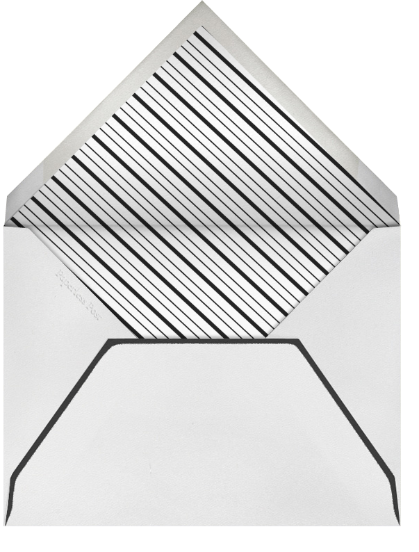 Deco Hex Frame - Silver - Paperless Post - New Year's Eve - envelope back