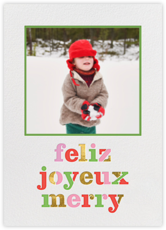 Feliz Merry Joyeux - kate spade new york - Photo Christmas cards