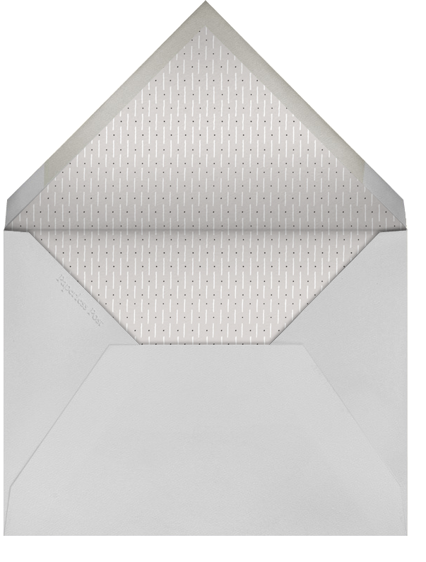 Honeycomb Party - Silver - Paperless Post - Cocktail party - envelope back