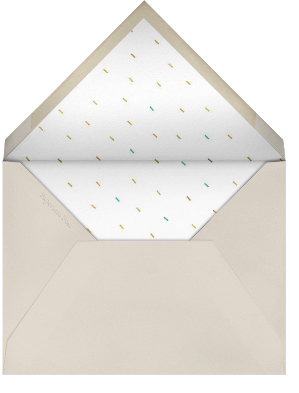 Party Animals - Gold Robin - Paperless Post - New Year's Eve - envelope back