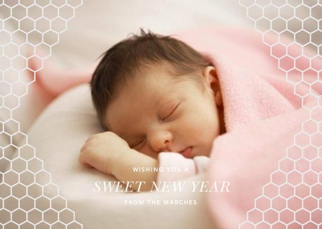 Honeycomb Photo - White - Paperless Post -