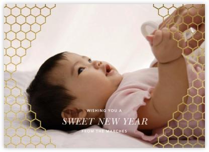 Honeycomb Photo - Gold - Paperless Post -