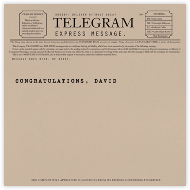 Telegram - Graduation - Paperless Post - Graduation