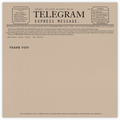 Telegram - Thank You - Paperless Post - Online Thank You Cards