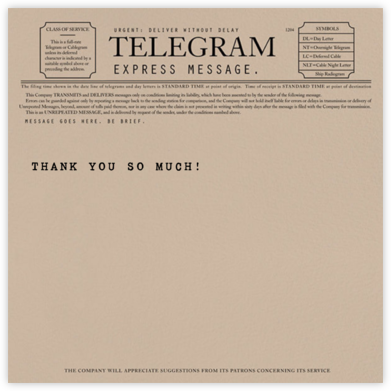 Telegram - Thank You - Paperless Post - Thank you cards
