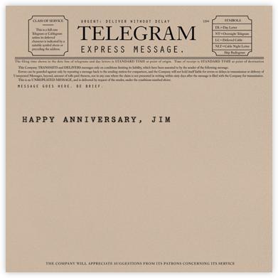 Telegram - Anniversary - Paperless Post - Anniversary cards