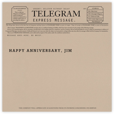 Telegram - Anniversary - Paperless Post - Anniversary Cards