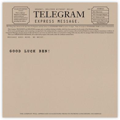 Telegram - Good luck - Paperless Post - Good luck cards