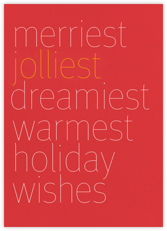 Wishes - Red - bluepoolroad - Company holiday cards