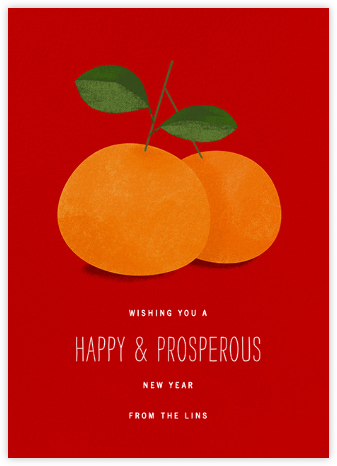 Lucky Clementines - Red - Paperless Post - Online greeting cards