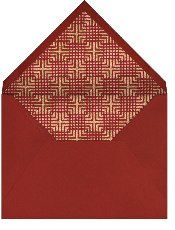 Chinese Lattice Border - Paperless Post - Lunar New Year - envelope back