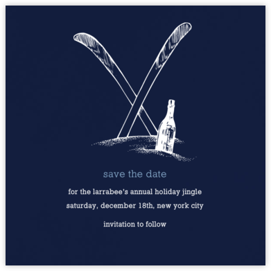 Navy Blue - Square - Paperless Post - Holiday Save the Dates