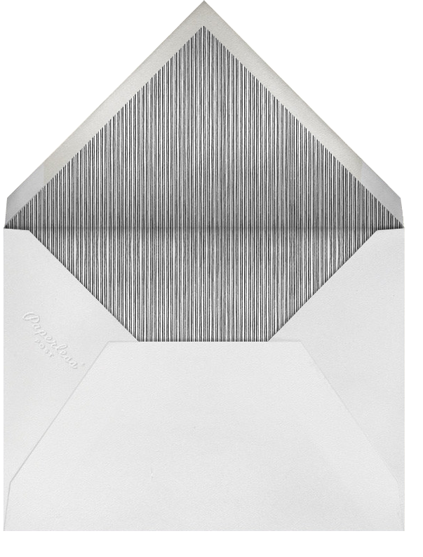 Double Loop Frame Horizontal - Black - Paperless Post - Sympathy - envelope back
