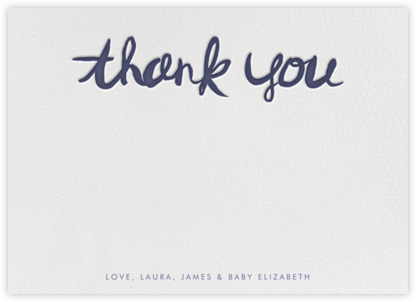 Brushed Thank You - Iris - Linda and Harriett - General thank you notes
