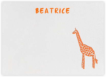 Little Long Neck - Orange - Linda and Harriett - Baby and kids' stationery